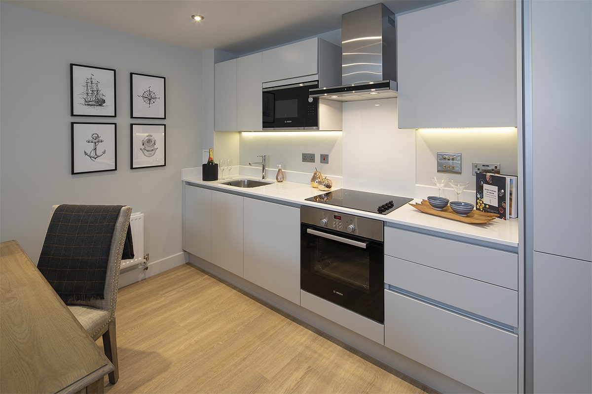 Bakers Quay Provender Mill Warehouse Mews Apartment Kitchen Fittings and Appliances