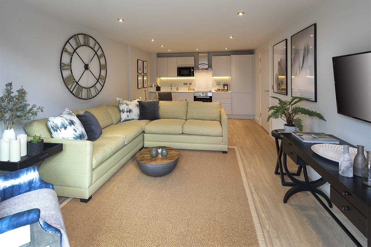 Bakers Quay Warehouse Mews Luxury Apartment Living Room Inward View