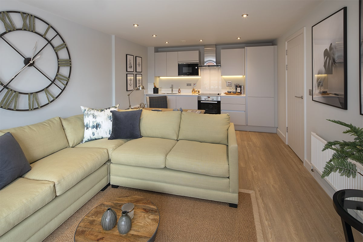 Bakers Quay Warehouse Mews Luxury Apartment Living Room View