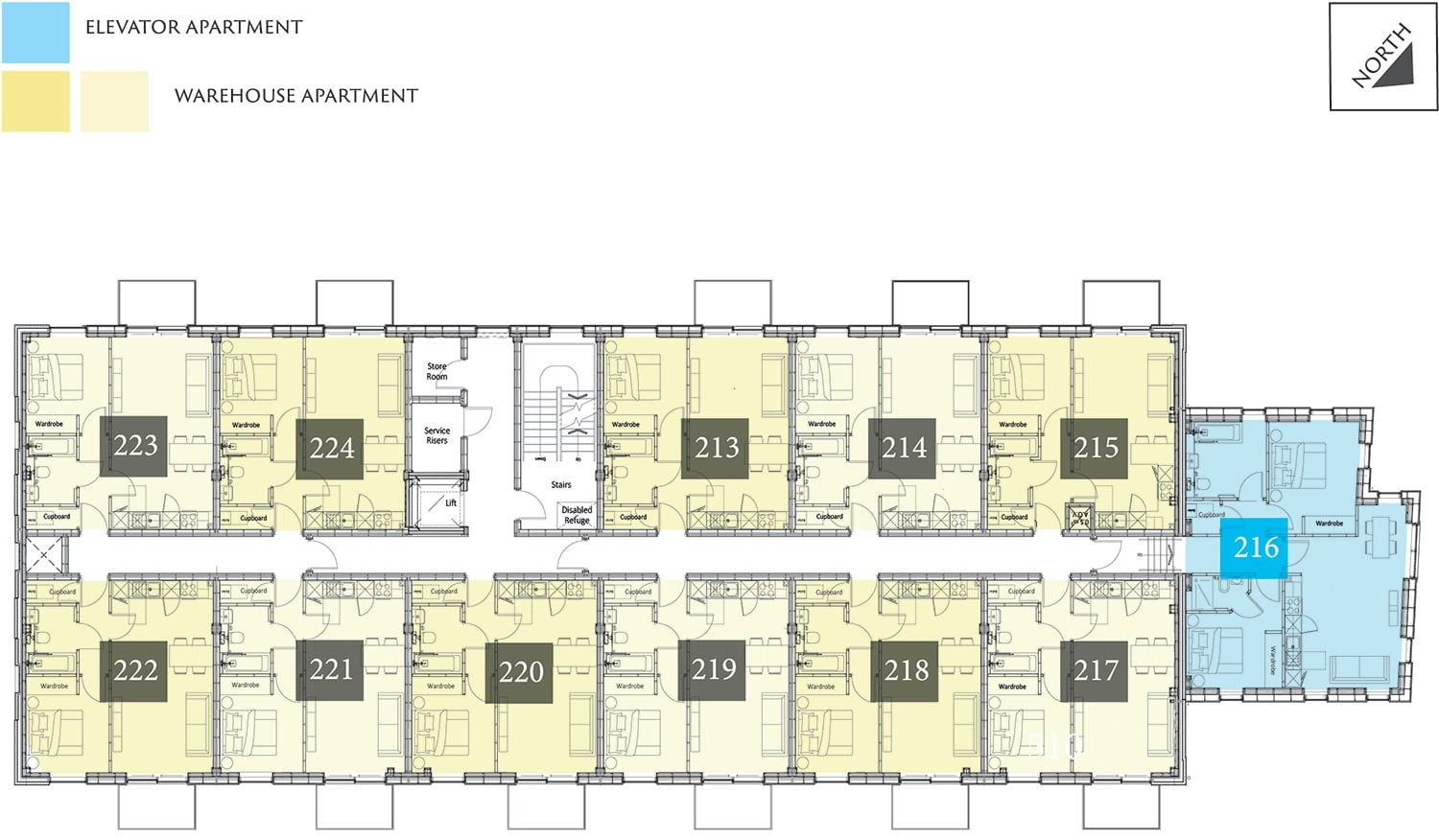 Provender Apartment Second Floor Plan