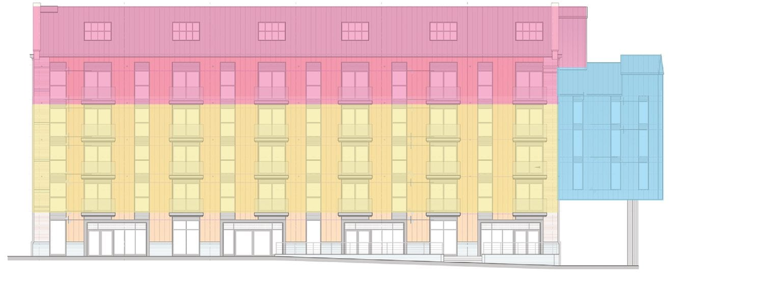 Bakers Quay Provender Mill Side Elevation Apartments Layout