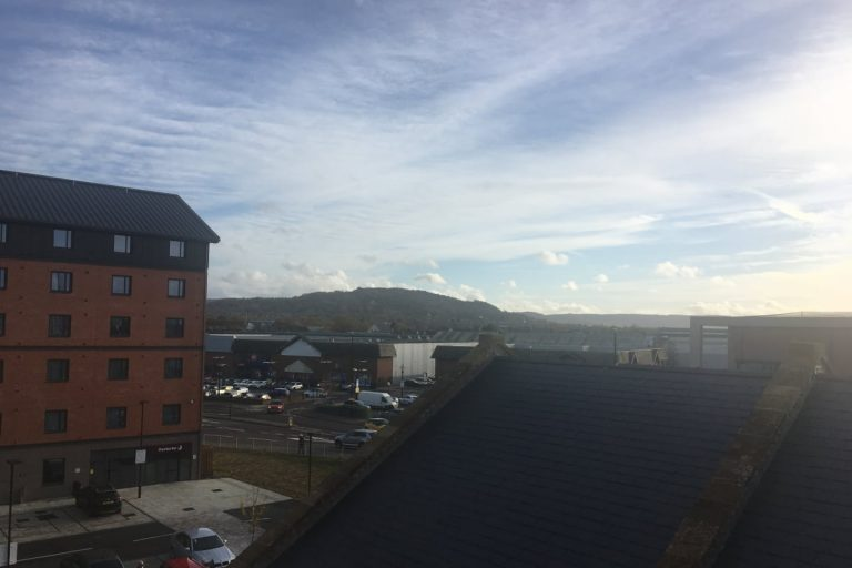 Bakers Quay Gloucester Luxury Warehouse Apartments Robinswood Hill Balcony View