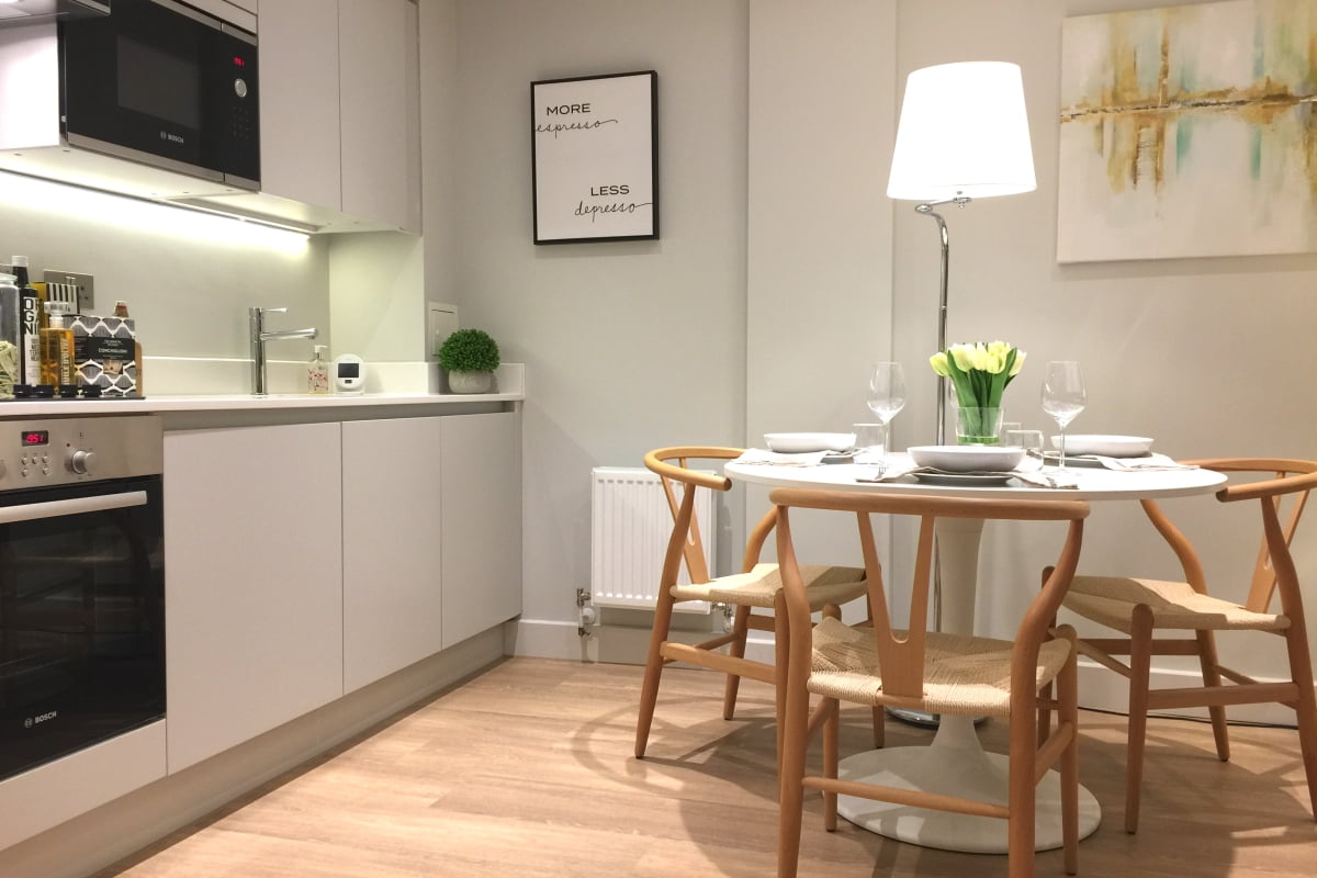 Bakers Quay Gloucester Luxury Warehouse Apartments Robinswood Hill Kitchen Table