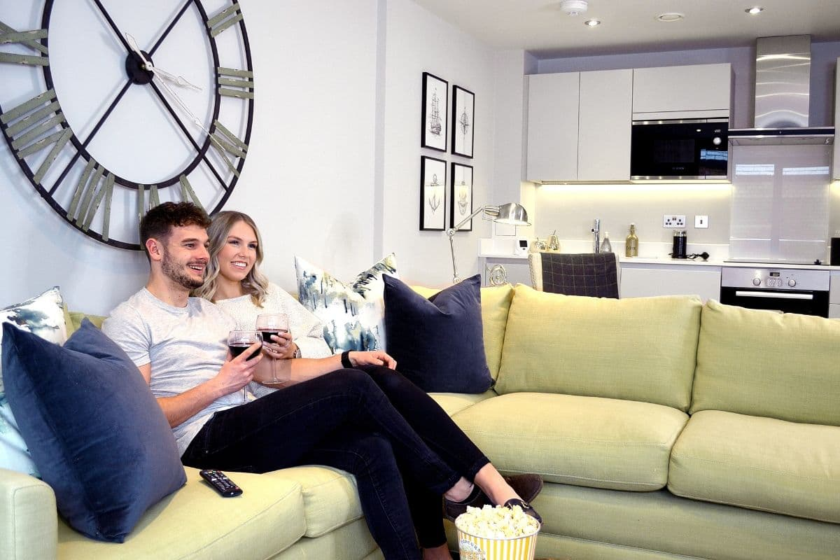 Bakers Quay Warehouse Mews Apartments Living Room Relaxing