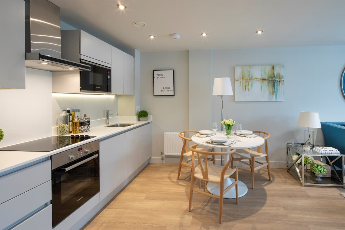 Bakers Quay Warehouse Robinswood Hill Apartment Kitchen